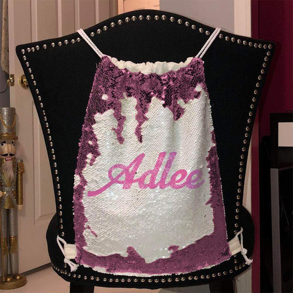 Personalized Magic Sequin Name Backpacks Sequin Backpack BLINGZ