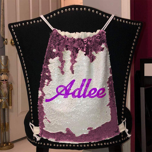 Personalized Magic Sequin Name Backpacks Sequin Backpack BLINGZ Pink Purple