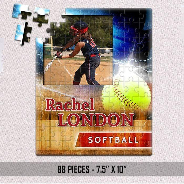 Ultimate Sports CUSTOM Photo Jigsaw Puzzles Puzzle LemonsAreBlue 88pc Puzzle Softball