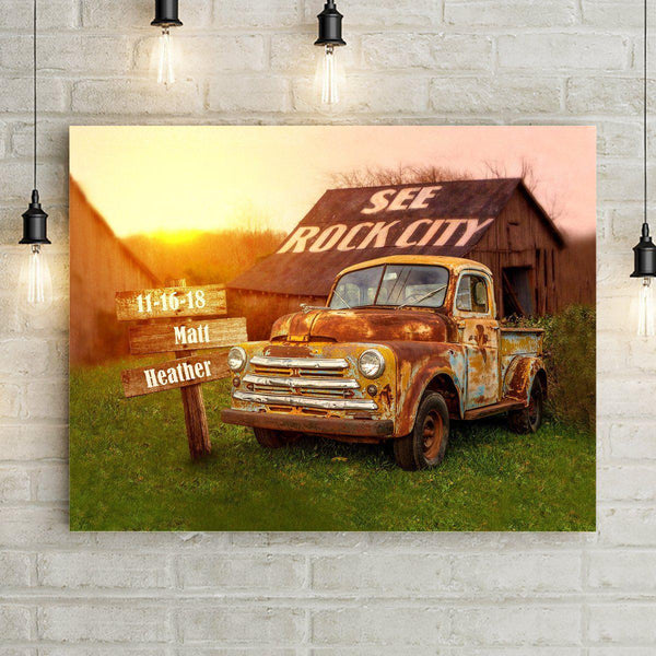 Rock City Personalized Premium Canvas