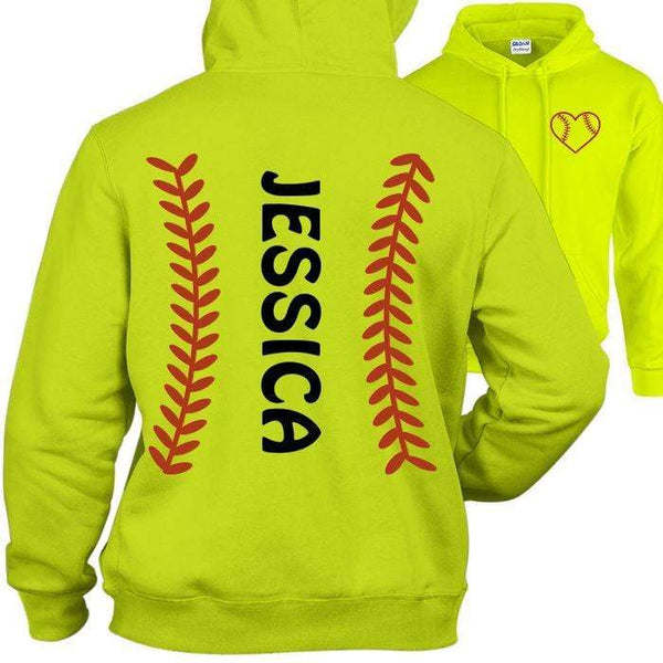 Softball PERSONALIZED Hoodies Apparel Edge Safety Green S