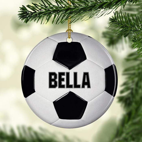 Soccer Personalized Ceramic Ornaments