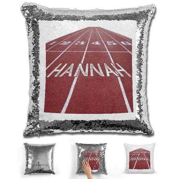 Track Field Personalized Magic Sequin Pillow Pillow GLAM