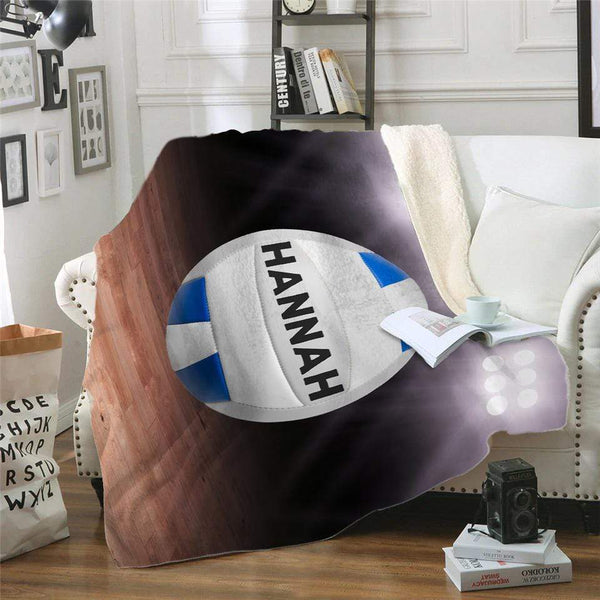 Volleyball NEW Personalized Sherpa Blanket