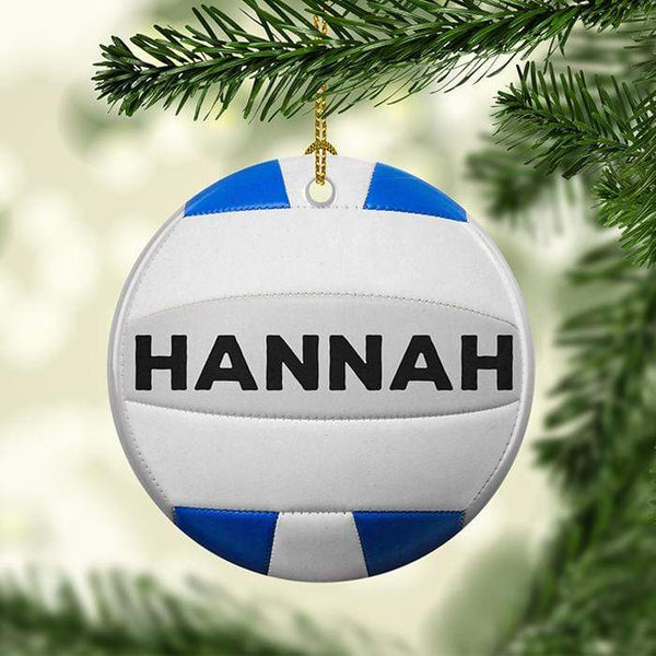 Volleyball Personalized Ceramic Ornaments