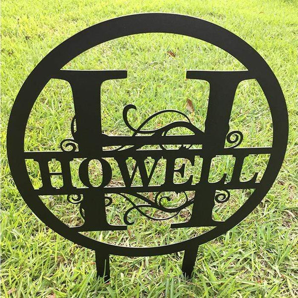 Personalized Monogrammed Yard Sign (100% American Made) Yard Sign Nocturnal Coatings