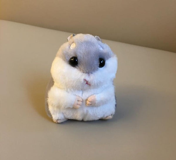 10cm Cute Plush Toys New cute soft plush hamster doll jewelry bag key pendant grasping machine plush hamster doll G0116