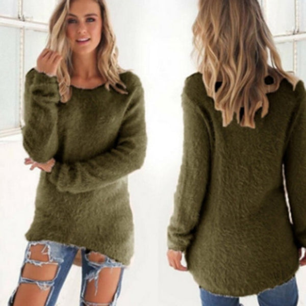 13 Kinds Fashion Solid Color Sweater Long Sleeve Women's Upper Outer Garment Thinner Autumn/Winter Women Sweater S-3XL - MASTYLES ONLINE EXPRESS