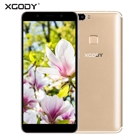 18:9 XGODY S14 5.7 Inch Smartphone Face ID 4 Camera Full Screen 3G Dual Sim Mobile Phone Quad Core 1GB+8GB Android 5.1 Cellphone