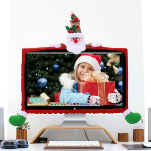 19-27 inch Santa Claus Snowman Elk Christmas decorations for Computer set TV television display frame cover  20%off