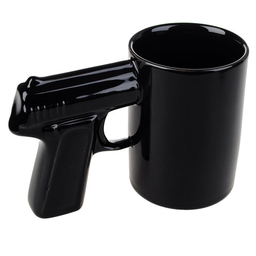 1Piece Pistol Grip Coffee Cups And Mugs Funny Gun Mug Milk Tea Cup Creative Office Ceramic Coffee Mug Drinkware
