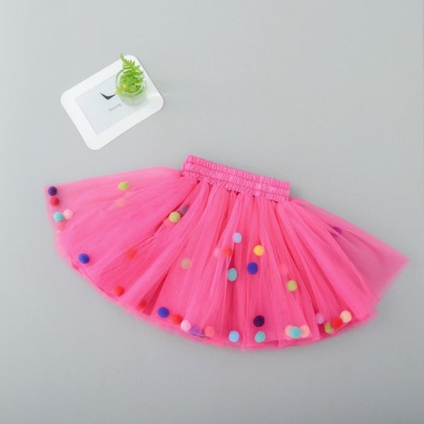 2-10Y Color Ball Lace Fashion Tutu Girls Skirts KD-1881