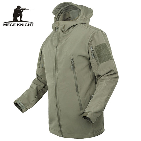 2017 MEGE Men Jacket Waterproof Coats Jacket Army Coat Outerwear Hoodie Army Green 3XL Military Clothing