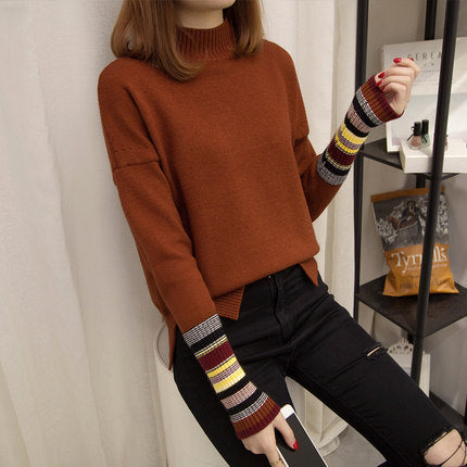 2018 Autumn Winter Women Knitted Sweater Female Oversized Turtleneck Pullover Tops Girls Casual Long Sleeve Shirt Knit Jumper - MASTYLES ONLINE EXPRESS