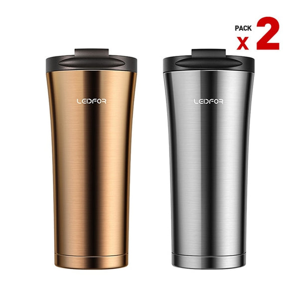 2018 Coffee Mug Milk Metal Insulated Copper Stainless Steel Vacuum Flask Car Thermal Water Bottle Coffee Cup Beer Thermo Mugs
