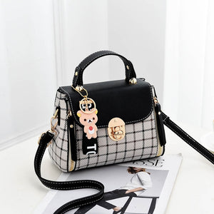 6f5a8e060e 2018 Fashion Girls Handbags for Women Commuter Package PU Patchwork Soft  Female Totes Top-Handle