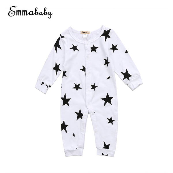 2018 Latest Children's Wear Newborn Baby Girls Boys Soft Cotton Star Romper Sunsuit Jumpsuit Playsuit Outfits Clothes Set 0-18M - MASTYLES ONLINE EXPRESS