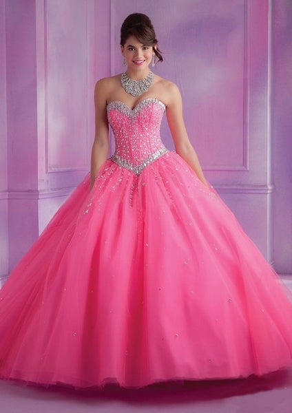 2018 Latest Design Ball Gown Quinceanera Dress Pink – MASTYLES ...