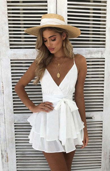 2018 Latest Style Summer Women's Boho Sleeveless Backless V Neck Party Beach Mini Dress Holiday Floral Sundress - MASTYLES ONLINE EXPRESS