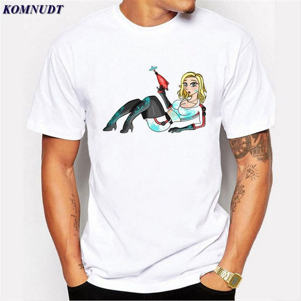 2018 Men's Vintage Funny Nuka Cola T shirt Male Custom Printed Short Sleeve Tees Large and Tall Teenager T-shirt Digital Print - MASTYLES ONLINE EXPRESS