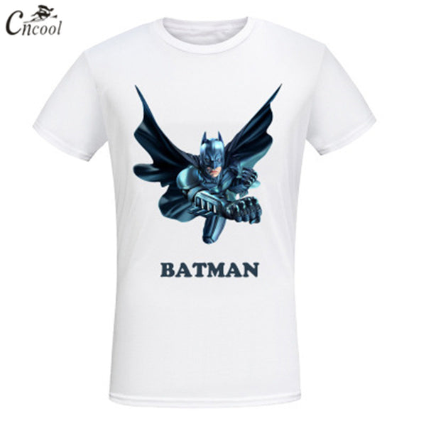 2018 New Brand Print Man's T-shirt Batman Super Hero Teenager Anima Streetwear T-shirt Free Shipping Short Sleeve - MASTYLES ONLINE EXPRESS