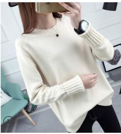 2018 New Long sleeve Sweater for women Fashion Winter women sweater knitting pullovers Round neck Loose knitted sweater Tops 562 - MASTYLES ONLINE EXPRESS