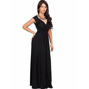 2018 New Plus Size Sleeveless Draped Floor Length Summer Long Dress Women Solid Casual Party Work Office Dress Vestidos De Festa - MASTYLES ONLINE EXPRESS