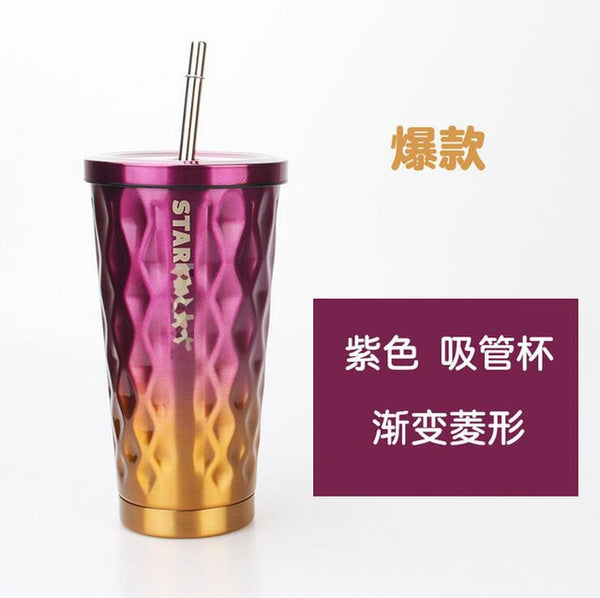 2018 Vacuum Insulated Travel Coffee Mug Stainless Steel Tumbler Sweat Free coffee tea Cup Thermos Flask Water Bottle