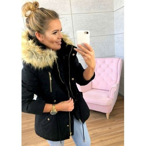 2018 Winter Womens Parka Casual Outwear Military Hooded Coat Women Fur Coats Woman Clothes Manteau Femme Winter Jacket