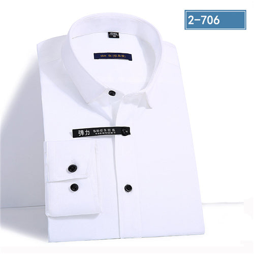 4b40a70e6ea 2019 New Arrival Men Solid Dress Shirts Long Sleeve Man Casual Shirt S –  MASTYLESEXPRESS.COM