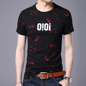 Men's Clothing T-shirts Nice T-shirts 2019 Men Slim Breathable Soft Full Sleeve Daily Printed O-neck Korean Style Tees All-match Fashion Mens T-shirt Casual Lustrous Surface
