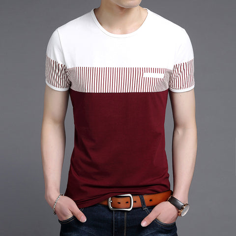2019 New Fashion Brand T Shirts Mens O Neck Korean Summer Tops Street Style Trends Top Grade Short Sleeve Tshirts Men Clothing