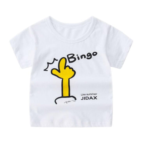 2019 Summer Boys Girls Cartoon Printed T Shirt Short Sleeve Soft Cheap Clothes Baby Fashion Animal Tshirts For 4 6 8 10 12 Years