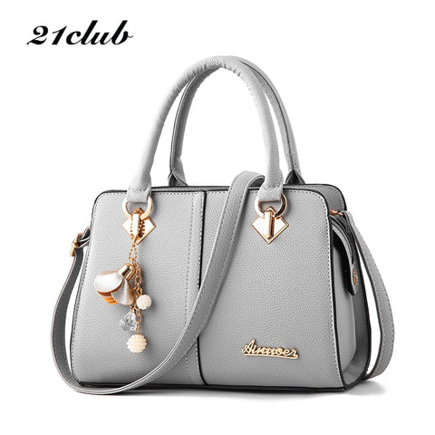 d5533793c2ad 21club brand women hardware ornaments solid totes handbag high quality lady  party purse casual crossbody messenger