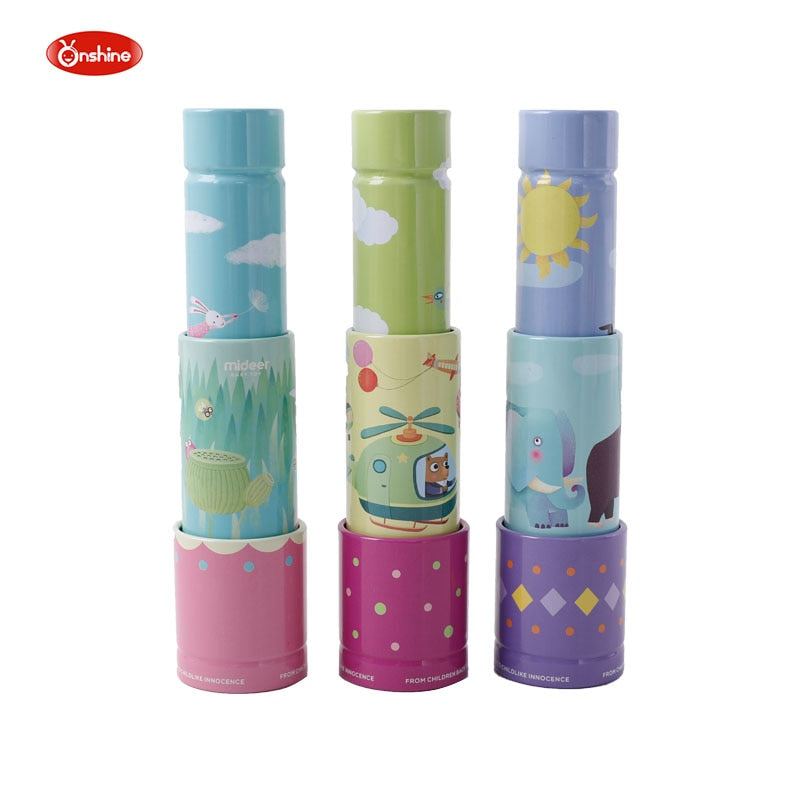 24cm Retractable Kids Telescope Toy Children Educational Toys Science Telescope Lens Sensory Toddler Tin Toys Kids Birthday Gift