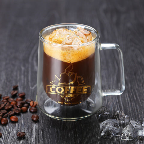 300ml Coffee Mug Set Tea Mugs Handmade Creative Beer Drink a Mug of Office Mug Transparent Drinkware Double Glass Cups