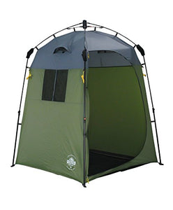 Lumaland Outdoor Pop Up Shower Tent Dressing Tent Privacy Toilet Tent Standing Camping 155x155x220 cm green