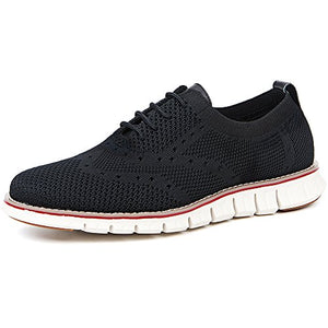 Laoks Men's Mesh Sneakers Wingtip Oxford Lightweight Breathable Walking Shoes