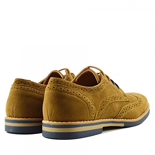 Mens Casual Shoes Suede Formal Office Smart Work Lace Up Shoes