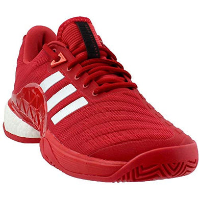 Adidas Men's Barricade 2018 Boost Real Coral/White/Real Coral 7.5 D US | Tennis Sports