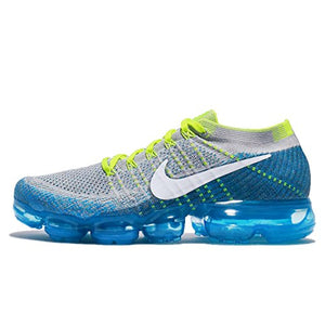 Nike Men's Air Vapormax Flyknit, Wolf Grey/White-Chlorine Blue Running Shoes