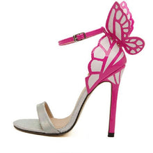 Load image into Gallery viewer, Jan2017 European Women personality wedding high heels Colorful butterfly heeled sandals pumps bow patry shoes woman bridal pumps
