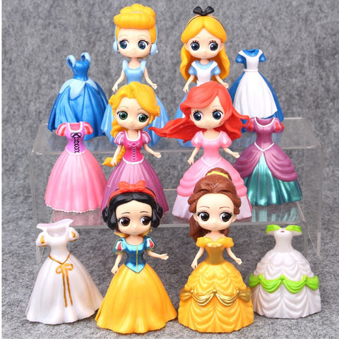 6Pcs/set Television Snow White Anna Elsa Ana Amari Sofia 10CM Action Figure Collectible Model Toy OPP D545