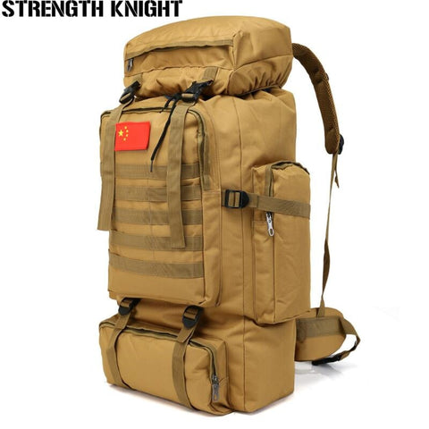 70L Large Capacity Backpack Nylon Waterproof Military Tactics Molle Army Bag Men Backpack Rucksack for Hike Travel Backpacks
