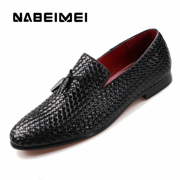 Men shoes genuine leather pigskin loafers casual slip-On shoes big size 37-48 solid black/blue/gray summer shoes zapatillas