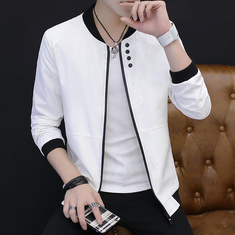 Autumn New Bomber Jacket Men 2018 Stand Collar Button Decor Casual Windbreaker Jackets Long Sleeve Slim Fit Mens Coats 5XL-M Hot - MASTYLES ONLINE EXPRESS