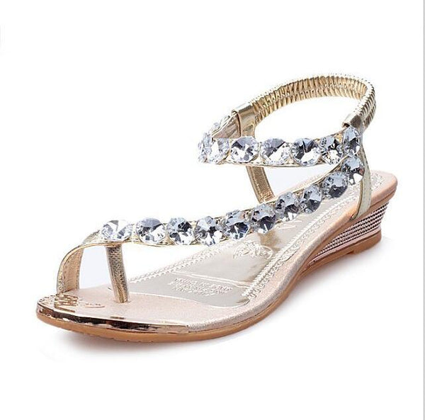VTOTA Brand Sandals Women Rhinestone Summer Shoes wedges Slip On Shoes Woman Waterproof Party Women's Shoes Wedding Shoes 275