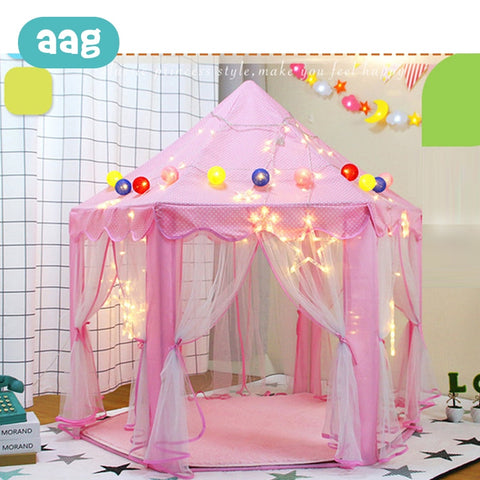 AAG Folding Children Tent Play House Toys Baby Game Tent Play Yurt Sports Kids Indoor Outdoor Beach Tent Toys Princess Castle 30