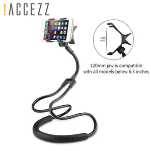 !ACCEZZ Long Arm Adjust Lazy Neck Mount Phone Stand Holder For iPhone Universal 360 Degree Flexible Rotate Bed/Desktop Bracket