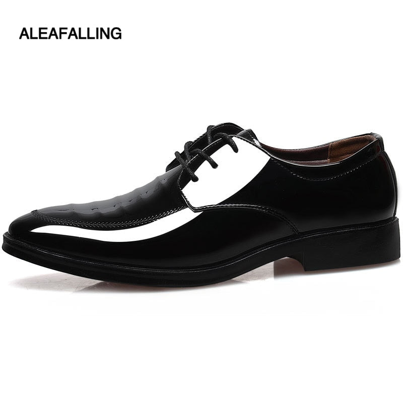 0a9922805c7dfd Aleafalling Shinny Breathable Men Formal Shoes Pointed Toe Patent Leather Oxford  Shoes For Men Dress Shoes ...